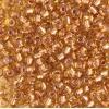 Seedbead 2/0 Transparent topaz/copper Lined